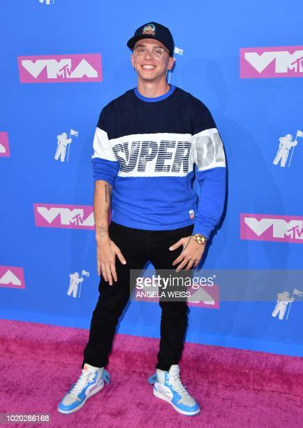 US rapper Logic attends the 2018 MTV Video Music Awards at Radio City Music Hall on August 20 2018 in New York City