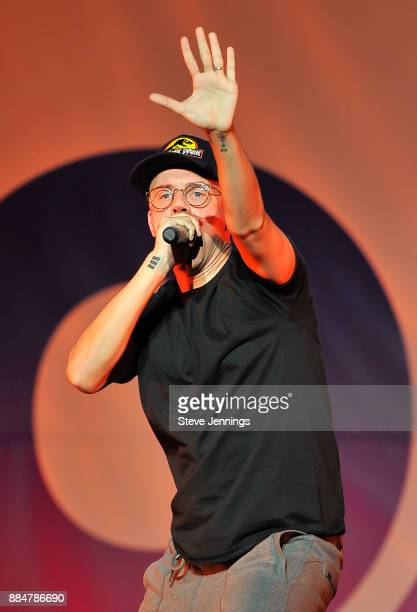 Rapper Logic performs at 997 NOW Presents POPTOPIA at SAP Center on December 2 2017 in San Jose California