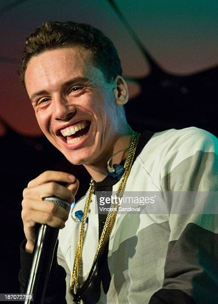 Rapper Logic performs for SKEE Live at The Conga Room at LA Live on November 5 2013 in Los Angeles California