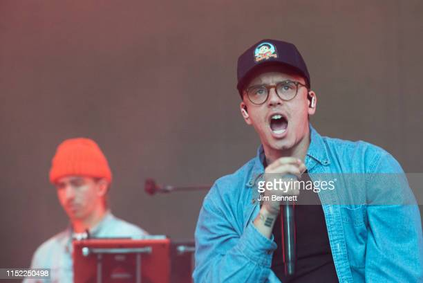 Rapper Logic performs live during BottleRock at the Napa Valley Expo on May 24 2019 in Napa California