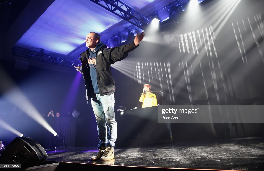 Rapper Logic performs onstage at Sir Lucian Grainge's 2018 Artist Showcase presented by Citi with support from Remy Martin on January 27, 2018 in New York City.