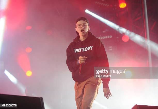 Rapper Logic performs the 2017 Governors Ball Music Festival Day 3 at Randall's Island on June 4 2017 in New York City