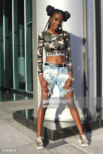 Rapper Lola Bunz attends the Unity Festival Concert 2017 at David Pecaut Square on July 15 2017 in Toronto Canada