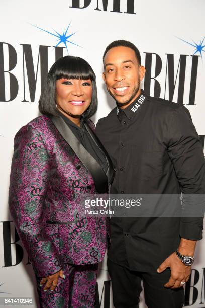 Rapper Ludacris and BMI Icon Recipient Patti Labelle at the 2017 BMI RB/HipHop Awards at Woodruff Arts Center on August 31 2017 in Atlanta Georgia