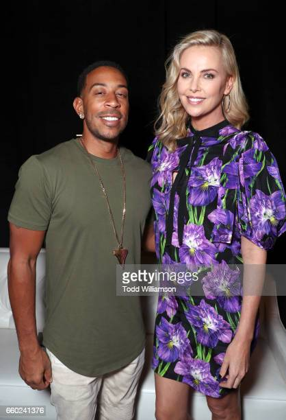 Rapper Ludacris and Charlize Theron at CinemaCon 2017 Universal Pictures Invites You to a Special Presentation Featuring Footage from its Upcoming...
