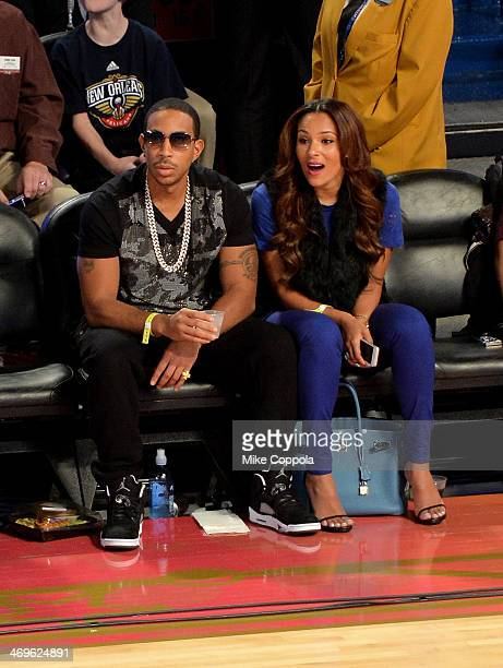 Rapper Ludacris and Eudoxie Agnan attend the State Farm AllStar Saturday Night during the NBA AllStar Weekend 2014 at The Smoothie King Center on...