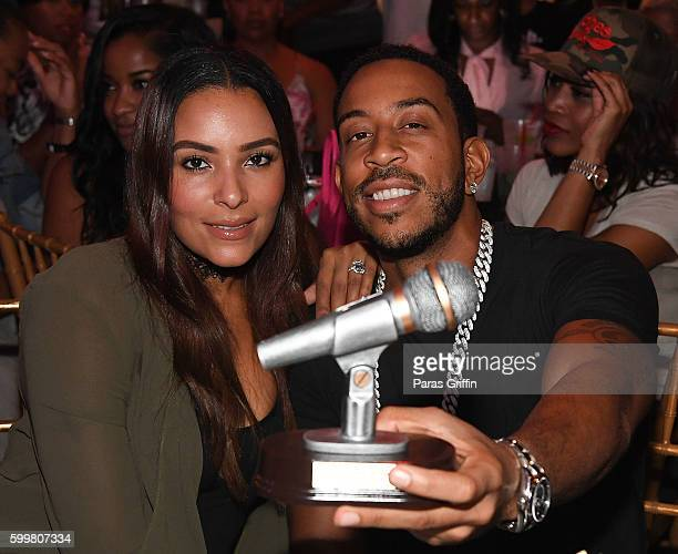Rapper Ludacris and wife Eudoxie Bridges accepts the Hip Hop Pro Icon Award at ATL Live On The Park HipHop Soul Edition at Park Tavern on September 6...