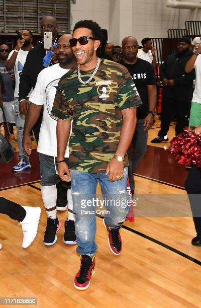 Rapper Ludacris arrives at his 14th Annual LudaDay Weekend Celebrity Basketball Game at Morehouse College on September 01 2019 in Atlanta Georgia