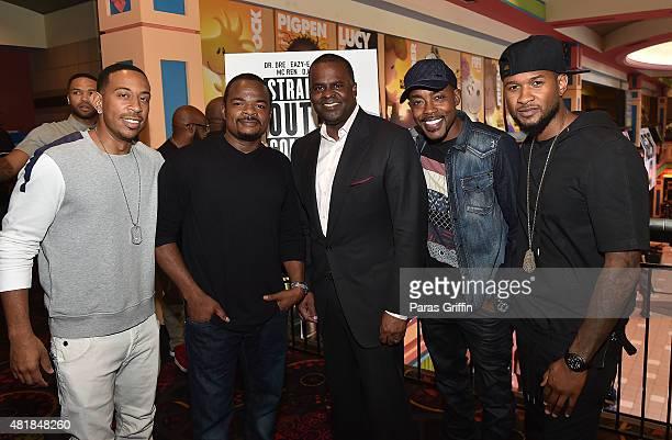 Rapper Ludacris director F Gary Gray Atlanta mayor Kasim Reed producer Will Packer and recording artist Usher Raymond attend Straight Outta Compton...