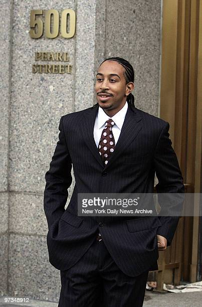 Rapper Ludacris leaves Manhattan Federal Court after testifying at a trial about allegations of copyright infringement Ludacris whose real name is...
