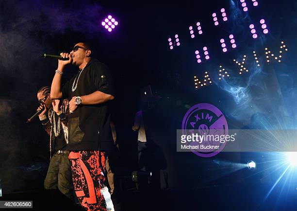 Rapper Ludacris performs onstage during the Maxim Party with Johnnie Walker Timex Dodge Hugo Boss Dos Equis Buffalo Jeans Tabasco and popchips on...