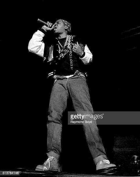 Rapper Luke Skyywalker from 2 Live Crew performs on stage at the International Amphitheatre in Chicago Illinois in 1989