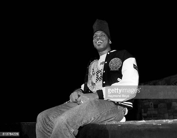 Luke Skyywalker from 2 Live Crew performs on stage at the International Amphitheatre in Chicago Illinois in 1989