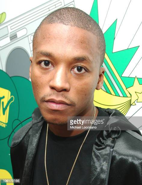 Rapper Lupe Fiasco appears on MTV's TRL at MTV Studios in New York City's Times Square on January 29 2008