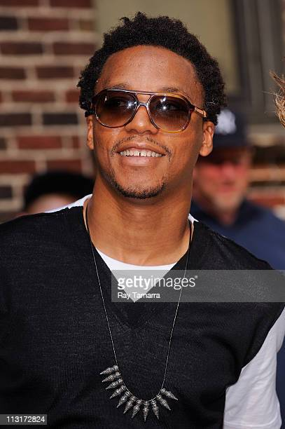 """Rapper Lupe Fiasco leaves the """"Late Show With David Letterman"""" taping at the Ed Sullivan Theater on April 25, 2011 in New York City."""