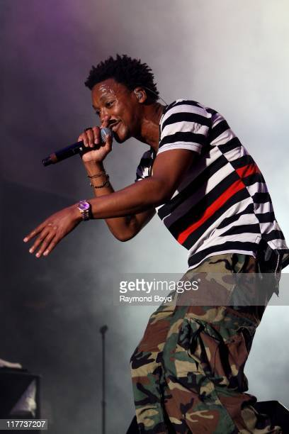 Rapper Lupe Fiasco performs during the B96 Pepsi Summerbash at Toyota Park in Bridgeview Illinois on June 11 2011