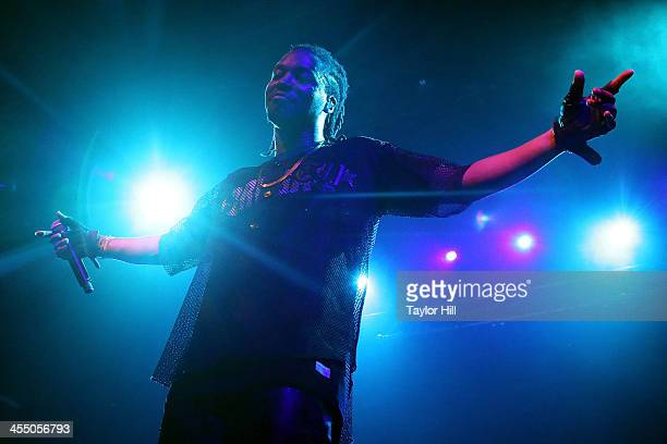 Rapper Lupe Fiasco performs in concert at Irving Plaza on December 10 2013 in New York City