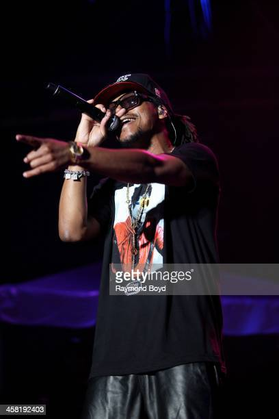 Rapper Lupe Fiasco performs on the US Cellular Connection Stage at the Henry W Maier Festival Park during the HarleyDavidson 110th Anniversary in...