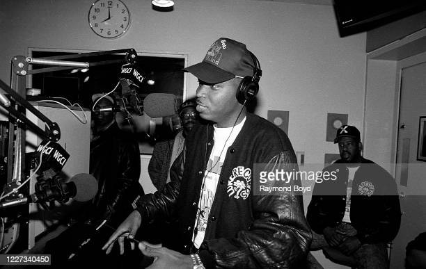 Rapper Luther Campbell, formerly of 2 Live Crew is interviewed at WGCI-FM radio in Chicago, Illinois in February 1992.