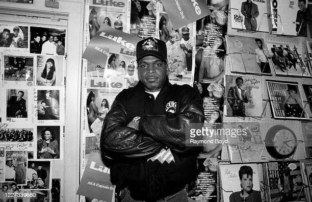 Rapper Luther Campbell, formerly of 2 Live Crew poses for photos at Fletcher's One Stop in Chicago, Illinois in February 1992.