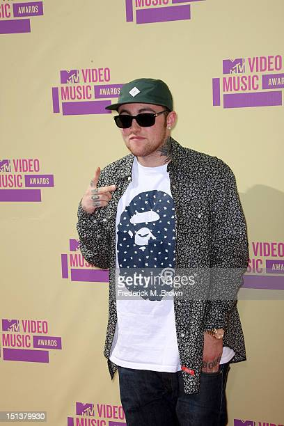Rapper Mac Miller arrives at the 2012 MTV Video Music Awards at Staples Center on September 6 2012 in Los Angeles California