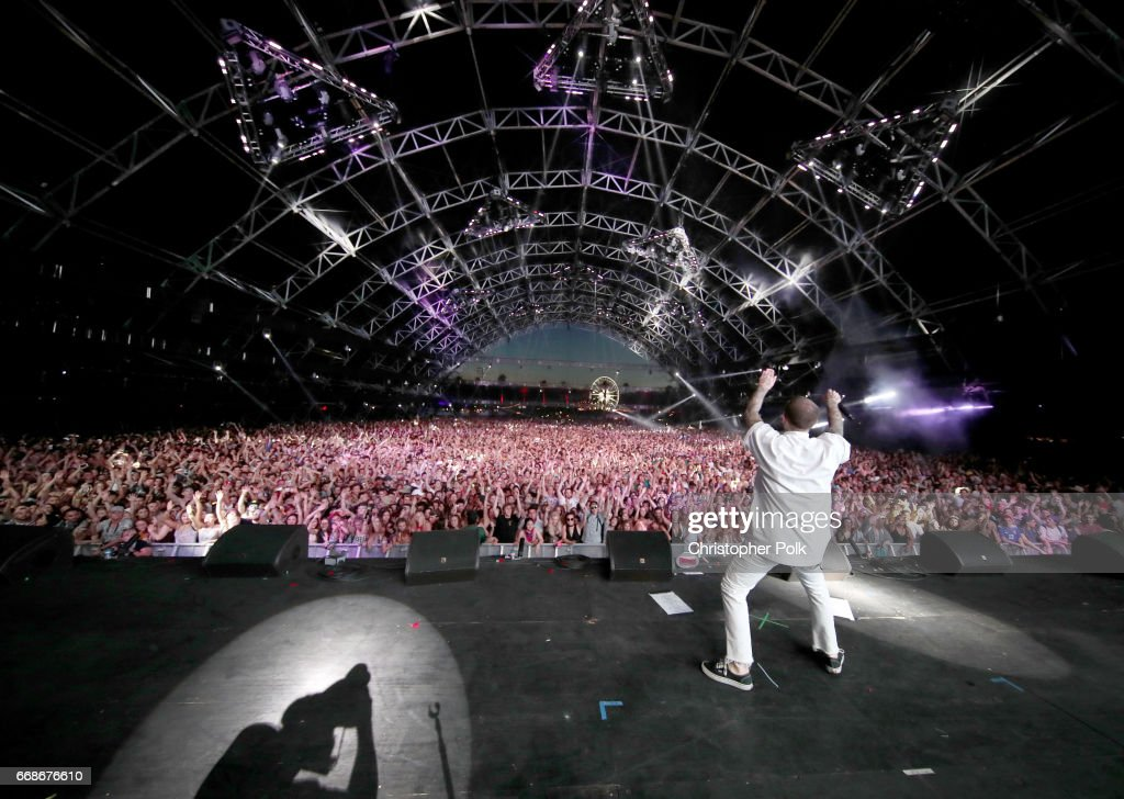 Rapper Mac Miller performs onstage during day 1 of the Coachella Valley Music And Arts Festival (Weekend 1) at the Empire Polo Club on April 14, 2017 in Indio, California.pril 14, 2017 in Indio, California.