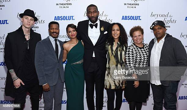 Rapper Machine Gun Kelly actor Nate Parker actress Gugu MbathaRaw basketball player Amar'e Stoudemire director Gina PrinceBythewood CEO of BET Debra...