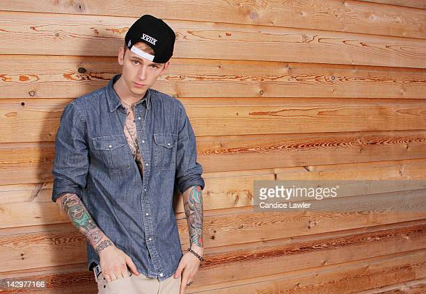 Rapper Machine Gun Kelly also known as MGK is photographed for BETcom on March 15 2012 in Austin Texas