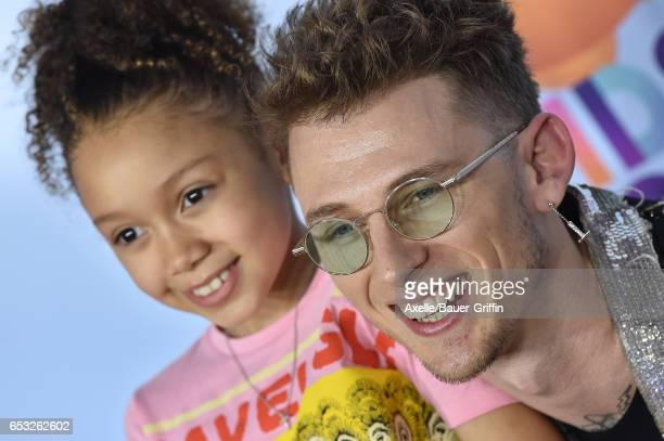 Rapper Machine Gun Kelly and daughter Casie Colson Baker arrive at Nickelodeon's 2017 Kids' Choice Awards at USC Galen Center on March 11 2017 in Los...