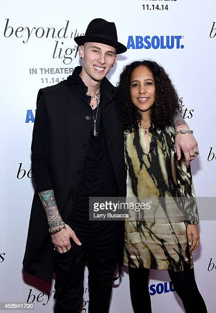 Rapper Machine Gun Kelly and director Gina PrinceBythewood attend The New York Premiere Of Relativity Media's 'Beyond the Lights' at Regal Union...