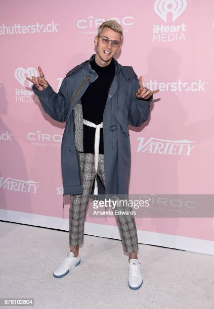 Rapper Machine Gun Kelly arrives at Variety's 1st Annual Hitmakers Luncheon at Sunset Tower on November 18 2017 in Los Angeles California