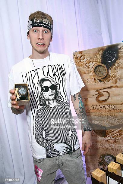 Rapper Machine Gun Kelly attends day 2 of the 2012 BET Awards Celebrity Gifting Suite held at The Shrine Auditorium on June 30, 2012 in Los Angeles,...