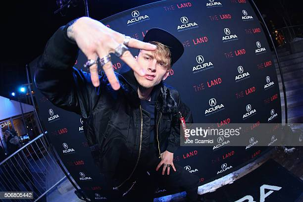 Rapper Machine Gun Kelly attends The Land party at The Acura Studio at Sundance Film Festival 2016 on January 25 2016 in Park City Utah