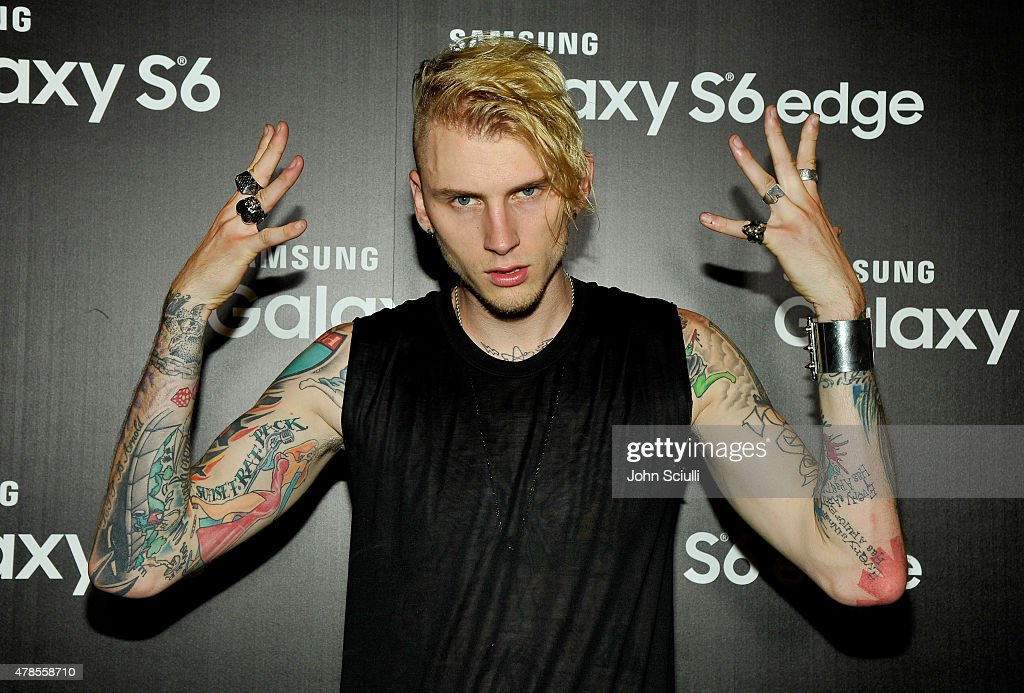 Rapper Machine Gun Kelly attends the Machine Gun Kelly Album Listening Party at the Samsung Studio LA across from The Grove on June 25, 2015 in Los Angeles, California.