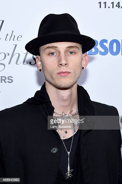 Rapper Machine Gun Kelly attends The New York Premiere Of Relativity Media's Beyond the Lights at Regal Union Square Stadium on November 13 2014 in...