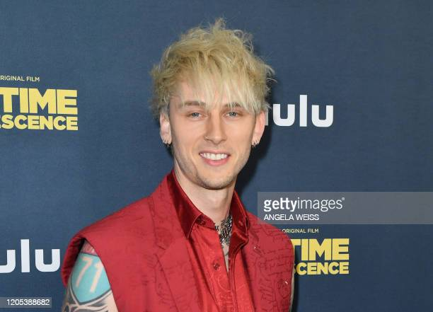 """Rapper Machine Gun Kelly attends the premiere of Hulu's """"Big Time Adolescence"""" at Metrograph on March 5, 2020 in New York City."""