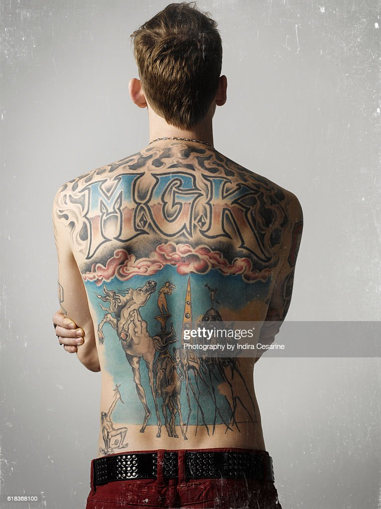 rapper machine gun kelly is for the untitled magazine on january 28 in