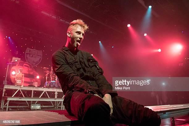 Rapper Machine Gun Kelly performs in concert at Best Buy Theater on August 13, 2015 in New York City.
