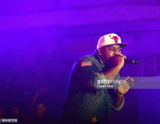 Rapper Mack Maine performs onstage at the Mass Appeal music showcase during 2017 SXSW Conference and Festivals at Stubbs on March 16 2017 in Austin...
