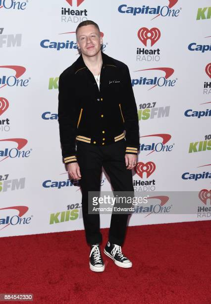 Rapper Macklemore arrives at 1027 KIIS FM's Jingle Ball 2017 at The Forum on December 1 2017 in Inglewood California