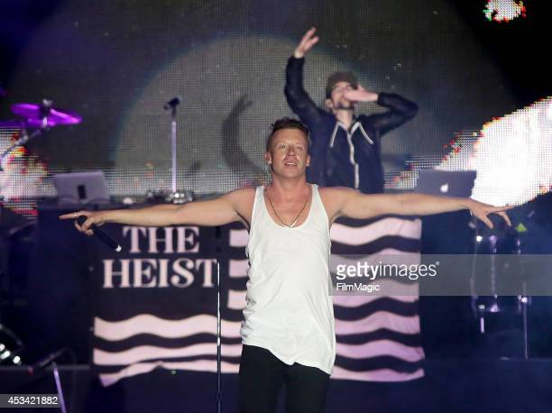 Rapper Macklemore performs at the Twin Peaks Stage during day 2 of the 2014 Outside Lands Music and Arts Festival at Golden Gate Park on August 9...