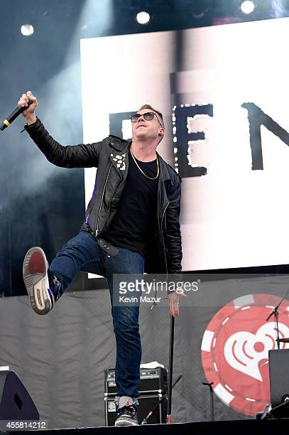 Rapper Macklemore performs onstage with Fences during the 2014 iHeartRadio Music Festival Village on September 20 2014 in Las Vegas Nevada