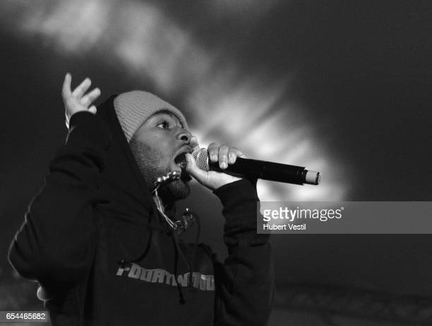 Rapper MadeinTYO performs onstage at the Mass Appeal music showcase during 2017 SXSW Conference and Festivals at Stubbs on March 16 2017 in Austin...