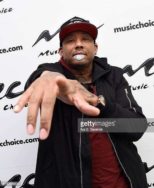 Rapper Maino visits Music Choice at Music Choice on April 7 2016 in New York City