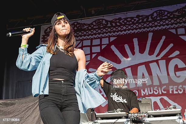 Rapper Mala Rodriguez performs onstage during the Pachanga Latino Music Festival at Fiesta Gardens on May 16, 2015 in Austin, Texas.
