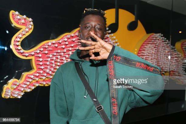 Rapper Manu Crook$ poses during Rap N' Roll & Mood Forever Present Manu Crook$ at Red Bull 381 Projects on May 3, 2018 in Toronto, Canada.