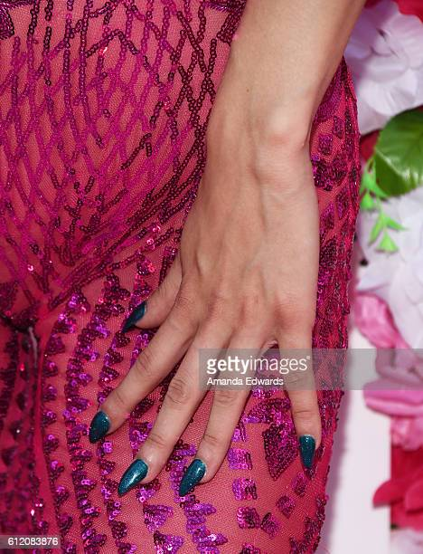 Rapper Mariah Lynn manicure detail attends the Amber Rose SlutWalk 2016 at Pershing Square on October 1 2016 in Los Angeles California