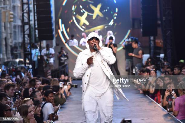 Rapper Mase performs on runway at the Kolony Album Release Event Dim Mak SS18 Collection at Build Studio on July 18 2017 in New York City