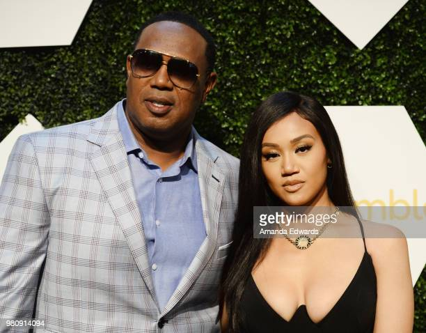 Rapper Master P and singersongwriter Cymphonique Miller arrive at the BET Her Awards Presented By Bumble at The Conga Room at LA Live on June 21 2018...