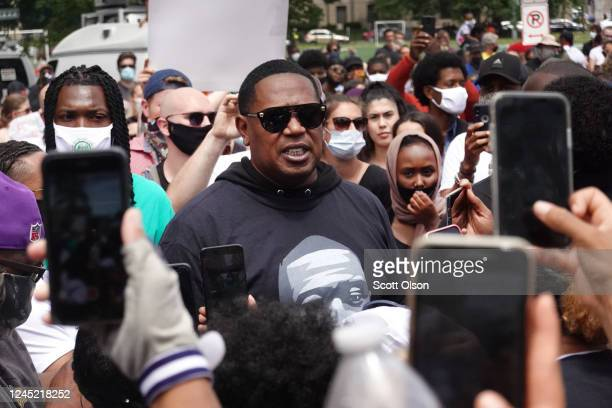 Rapper Master P attends the memorial service for George Floyd at North Central University on June 4 2020 in Minneapolis Minnesota Floyd died while in...